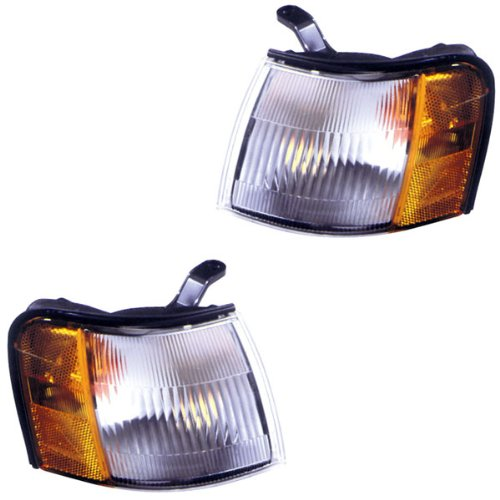 1991-1994 Toyota Tercel Corner Park Light Turn Signal Marker Lamp Pair Set Left Driver AND Right Passenger Side (1991 91 1992 92 1993 93 1994 94)