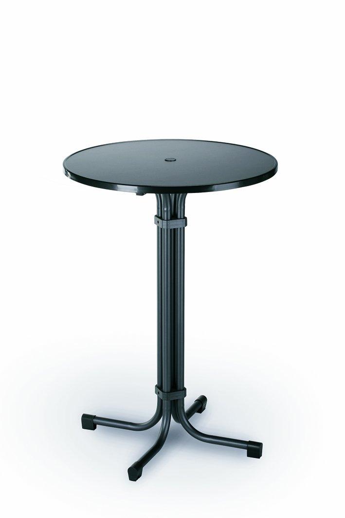 Best Multiflex Table de bar ronde Diamètre 80cm Diamètre : 80 cm - Hauteur : 110 cm charbon 26570050
