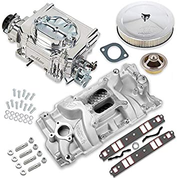 Carb Carburetor Adapter 2bbl to 4bbl barrel Holley Demon Carter Edelbrock AFB