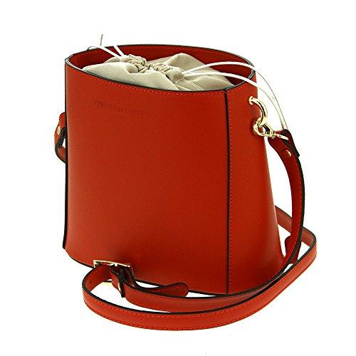 Christian Laurier - Sac à main en cuir modèle Diana rouge - Sac à main haut de gamme fabriqué en Italie