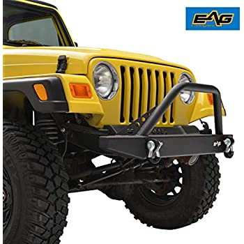 Fits 1987-2006 Jeep YJ//TJ Wrangler 1011 Rough Country Stubby Front Bumper
