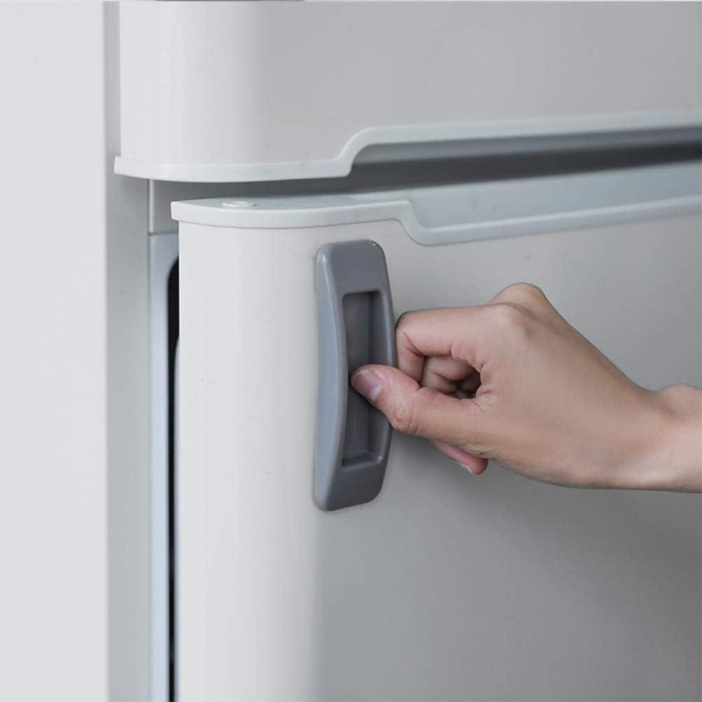 UPKOCH 4 Piezas Manijas de Puerta Plásticas Tiradores de Puerta Adhesivos para Ventana Puerta Gabinete Refrigerador (Gris, Negro): Amazon.es: Hogar