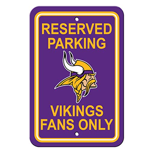 Sign Vikings Street Minnesota - Fremont Die Official National Football League Fan Shop Authentic NFL Parking Sign (Minnesota Vikings)