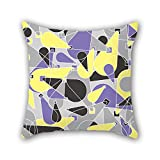NICEPLW geometry pillow shams 18 x 18 inches / 45 by 45 cm best choice for boys,festival,dinning room,car,birthday,bench with both sides