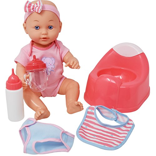 Little Chair Potty (Drink and Wet Baby Doll, With Training Potty, 2 Bottles, Diaper, Bib)