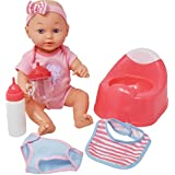 Drink and Wet Baby Doll, With Training Potty, 2 Bottles, Diaper, Bib