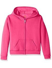 Hanes girls Big Girls Comfortsoft Ecosmart Full-zip Fleece Hoodie