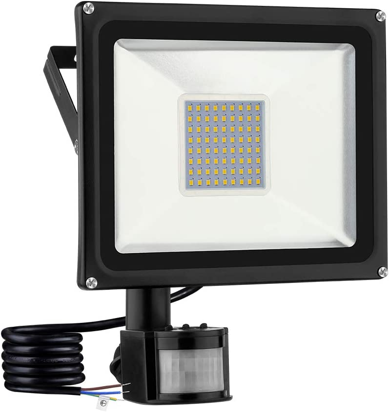 Garage Faretto LED da Esterno con Sensore di Movimento 10W 1000LM Lampada LED Luce di Sicurezza 3000K Magazzino Parcheggio Giardino IP67 Impermeabile Proiettore LED Esterno per Patio Strade