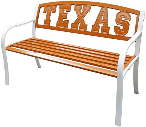 Leigh Country University of Texas Metal Bench