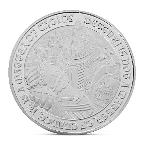 Gothing Medieval European Knight Challenge Coin Silver Plated Souvenir Art Collection ()