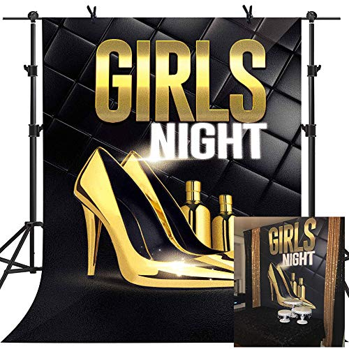 Carnival Night Background MME 5x7ft Golden Dance Shoes Perfume Girl Night Theme Party Photo Studio Booth Background GEME865