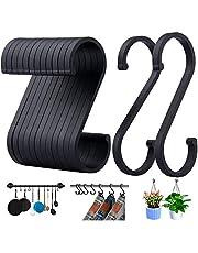 ACMETOP S haken, set van 12 S-vormige haken, S haken voor hangende potten en pannen, planten, koffiekopjes, kleding, handdoeken in keuken, slaapkamer, badkamer, kantoor en tuin