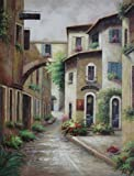 Oil Painting 48''x36'' Summer Vacation in Spain Cityscape Naturalism, BeyondDream Art