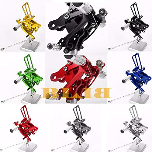 Frames & Fittings 8 Colors CNC Rearsets for Honda CBR 400RR 900RR 893cc 919RR SC33 NC29 NC28 Rear Set Motorcycle Adjustable Foot Stakes Pegs Pedal - (Color: Silver)