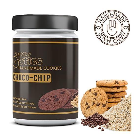 Healthy Oaties Cookies Handmade Choco Chip Cookies (175 gm)