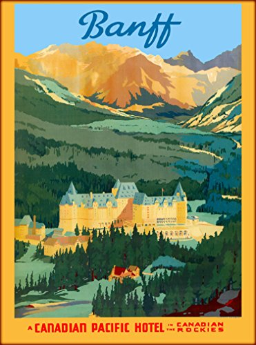 A SLICE IN TIME Banff A Canadian Pacific Hotel in the Canadian Rockies Canada Canadian Vintage Travel Advertisement Art Poster Print. Measures 10 x 13.5 inches