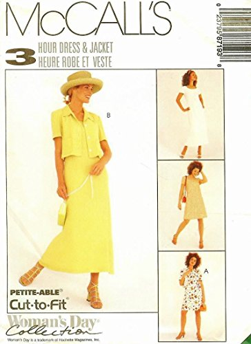 MCCALLS 8719 MISSES UNLINED JACKET & DRESS IN 2 LENGTHS (SIZE 8, 10, 12) SEWING PATTERN ()