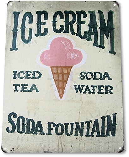TIN SIGN A095 Ice Cream Soda Art Kitchen Ice Cream Candy Store Metal - Cream Vintage Ice Signs