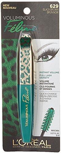 L'Oréal Paris Voluminous Feline Washable Mascara, Black Brown, 0.27 fl. oz.