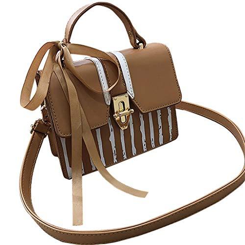 Kangma Women Shoulder Crossbody Bag With Strap Adjustable Square Totes Advanced Sense Lock Wild Handbag