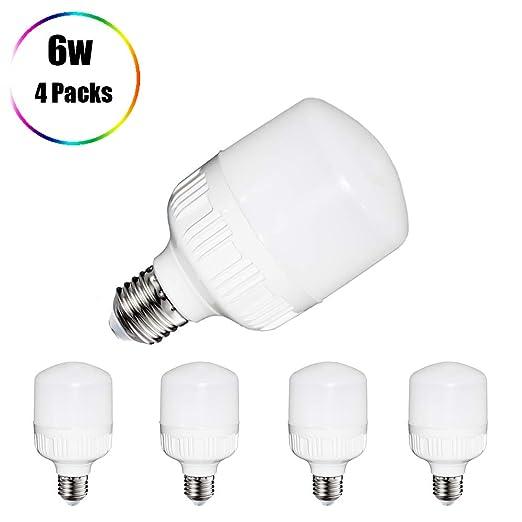 Bombillas de luz blanca fría, bombillas LED de 6 W, bombilla LED E27 de