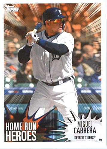 2019 Topps MLB Stickers Baseball #189 Miguel Cabrera/Wilson Contreras Detroit Tigers/Chicago Cubs Trading Card Sized Album Sticker with Collectible Card ()