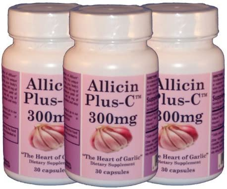 AllicinPlus-C 3-Pack 300mg of Garlic Allicin – Vegetarian Capsules