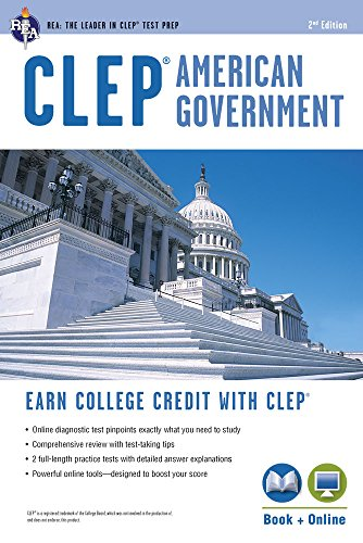 CLEP® American Government Book + Online (CLEP Test Preparation)