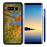 MSD Premium Samsung Galaxy Note8 Aluminum Backplate Bumper Snap Case IMAGE ID 28582691 A low angle view of colorful autumn leaves on trees in a forest Recommended with Reviews