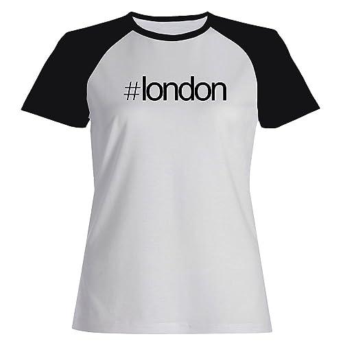 Idakoos Hashtag London - Capitali - Maglietta Raglan Donna