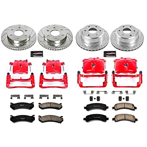 Power Stop KC2016 1-Click Performance Brake Kit with Calipers, Front & Rear