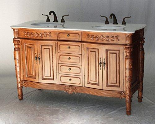 60-Inch Antique Style Double Sink Bathroom Vanity Model 2206-452 W