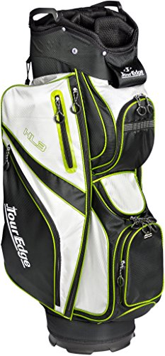 Tour Edge Unisex UBAHKCB05 HL3 Golf Cart Bag Black/Silver/Lime