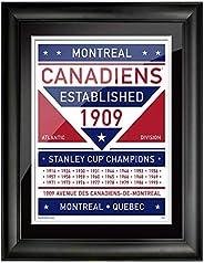 Montreal Canadiens 12x16 Dual Tone Framed Artwork