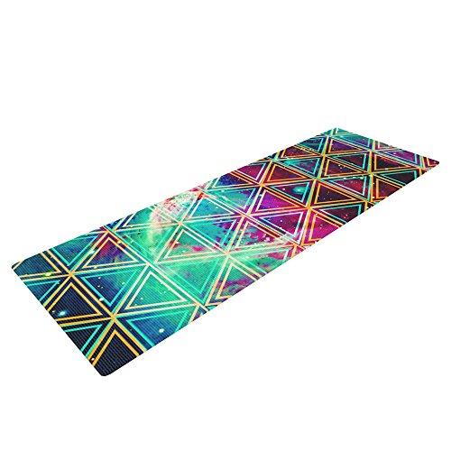 "Kess InHouse Alveron ""Neon Geo Galaxy"" Yoga Exercise Mat, Map, 72 x 24-Inch Review"