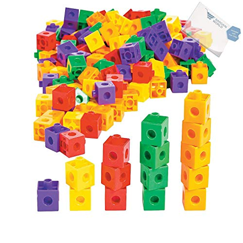 Bargain World Counting Cubes (With Sticky Notes) by Bargain World