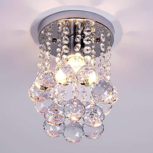 AXWT Distressed Cream Ornate Vintage Style Shabby Chic 3 Way Ceiling Light Chandelier With Beautiful Acrylic Jewels Pendant Lights,Ceiling Lamp Crystal Ceiling - Pendant Light Jewel