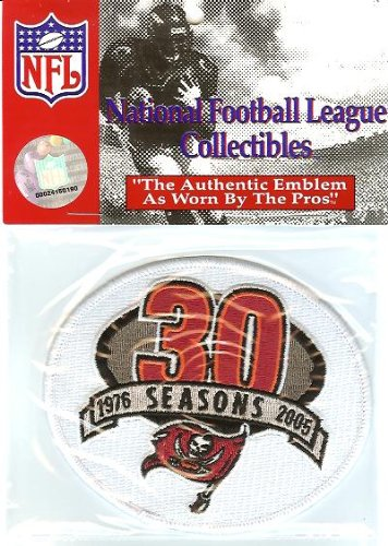 2005 Tampa Bay Buccaneers 30th Anniversary White Patch - Official NFL - Logo Patch 30th Anniversary