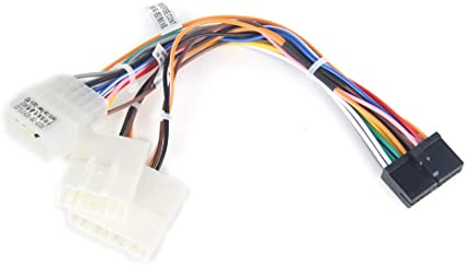 amazon.com: dasaita car stereo wiring harness cable fit dasaita car radio  head unit,dyx004 radio wire harness for toyota corolla camry prado rav4  hilux factory radio cable swc: car electronics  amazon.com