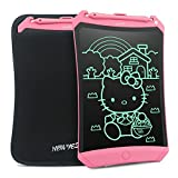 8.5 Inches LCD Writing Tablet - NEWYES NYWT085D - Robot Pad Kids Drawing board Doodle Pads Electronic Graphic Drawing Tablet (pink+case)