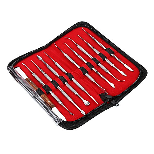 Professional 10 pcs/set Dental Lab Equipment Wax Carving Tools Set Surgical Dentist Sculpture Knife Instruments Tool Kit