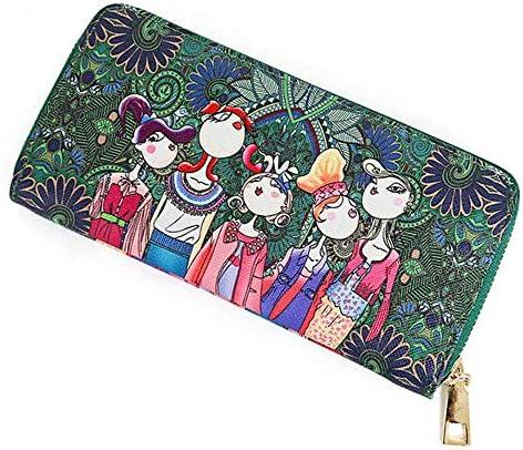 女性ボヘミアンロングウォレット多機能電話バッグ4カードスロットの財布 YZUEYT