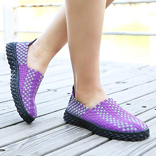 41 Casual Non Sports Orange Hiking Women Woven Couple Purple Performance Breathable Men Shoes Water And Hollow Slip Shoes Shoes qWHTt8nC