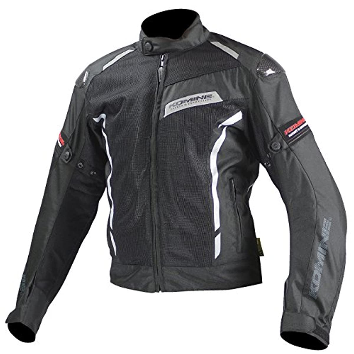[해외] 코미네 KOMINE 오토바이 카본 프로텍트 메쉬 재킷 아우터 프로텍터 카본 통기성 블랙 XL 07-103 JK-103