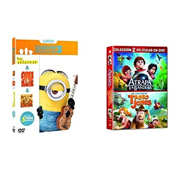Pack Infantil Gru 1 + Gru 2 + Minions + Atrapa La Bandera + Tadeo Jones DVD: Amazon.es: Cine y Series TV