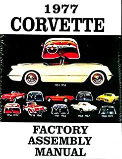 1977 corvette complete factory assembly instruction manual - guide - all  models convertible, fastback,