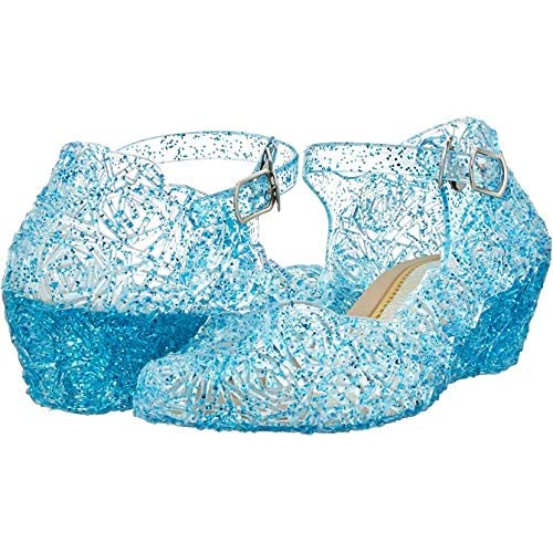 Kawai Peach Girls Cute Sparkle Sandals Fancy Dress Up Jelly Party Dancing Cosplay Shoes