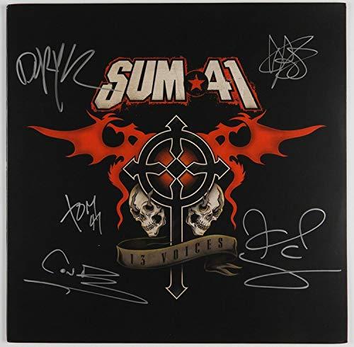 Sum 41 JSA Autographed Signed Memorabilia Album Lp Record Vinyl Full Band 13 Voices