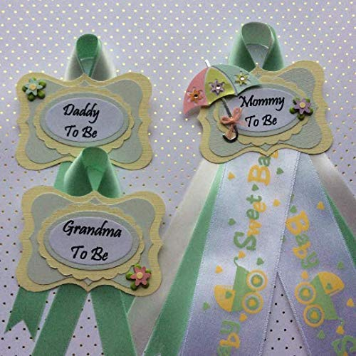 Amazon Com Sweet Baby Umbrella Theme Baby Shower Corsage Mommy