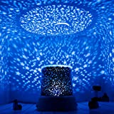 Aeeque Star Night Light for Kids, Universe Moon Starlight Projector Lamp for Christmas Parties Nursery Bedroom Decoration, Blue LED Light with USB Cable, Anniversary Birthday Gifts for Baby Her